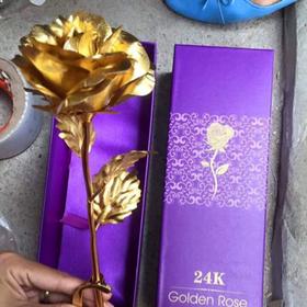 Hoa hồng mạ vàng có đế giá sỉ
