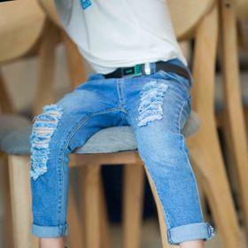Quần jeans phong cách cho bé giá sỉ