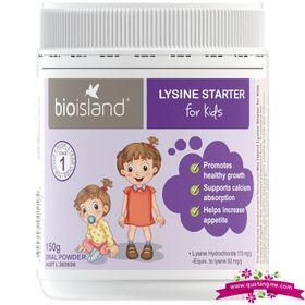 Bio island lysine starter for kids 150g oral powder - bổ sung vitamin tăng chiều cao cho bé giá sỉ