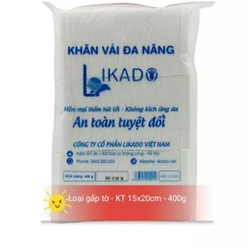 Khăn vải khô đa năng likado - gói 400g - kt 15x20cm giá sỉ