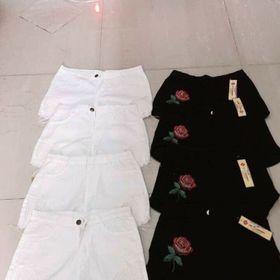 quần sọc thêu hoa giá sỉ