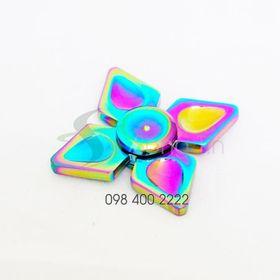 Con quay 4 cánh 7 màu - Rainbow Quad-wing Spinner - Fidget Spinner giá sỉ