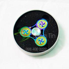 Con quay chong chóng 3 cánh 7 màu - Rainbow Pinwheel Spinner - Fidget Spinner giá sỉ