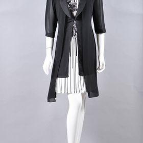 Đầm thun sọc bông kèm áo khoác giá sỉ