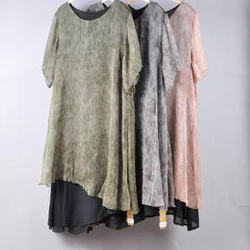 Đầm nữ voan sọc dập li 12022 giá sỉ