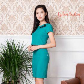 Váy xanh croptop giá sỉ