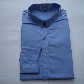 Áo sơ mi thời trang nam dài tay màu xanh da trời đậm / xanh tím than / tím nhạt giá sỉ