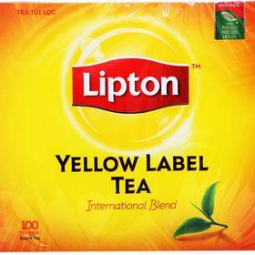 Trà Lipton nhãn vàng hộp 100 túi giá sỉ