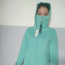 Áo chống nắng kèm khẩu trang kéo qua mũi giá sỉ
