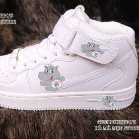 giày thể thao nữ cổ cao trắng giá sỉ