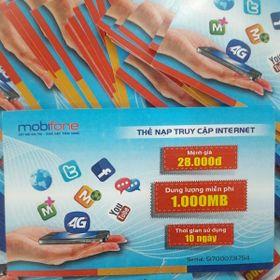 Thẻ cào DATA 4G 1400MB tốc độ cao mobifone sd 10 ngày giá sỉ