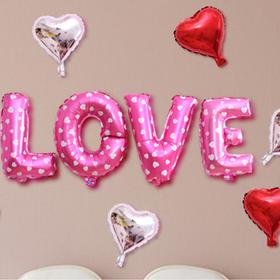 BỘ BONG BÓNG CHỮ LOVE 7 tim giá sỉ