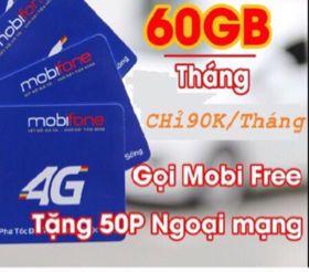 Sim C90 Mobifone 60Gb/tháng giá sỉ