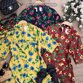 Áo dài hoa giá sỉ