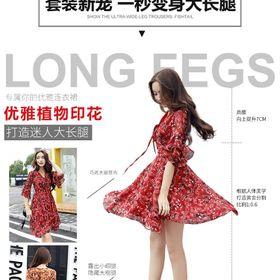 Váy hoa màu đỏ giá sỉ