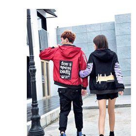 Áo khoác dù cặp đỏ đen giá sỉ