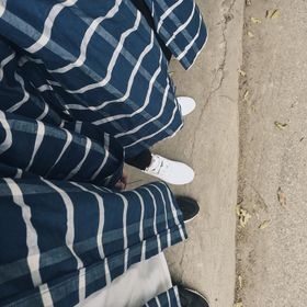 Sơ mi Flannel nữJust-P màu kẻ ca rô xanh giá sỉ