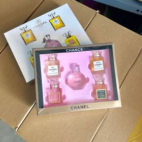 Set nước hoa Chanels 5 chai hộp giấy giá sỉ