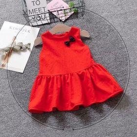 Váy 2 túi - váy xòe cho bé giá sỉ