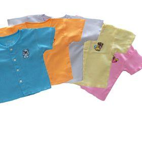 Bộ 5 áo tole lanh sơ sinh ngắn tay FiFI giá sỉ