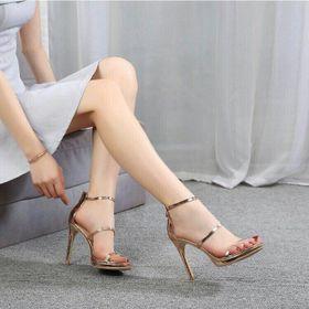Giày Cao gót dây si bóng giá sỉ
