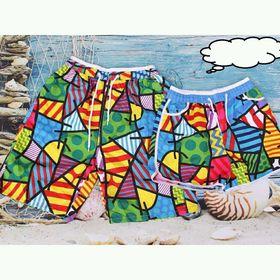 quần biển ô màu giá sỉ