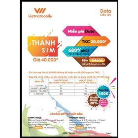 RẺ VÔ ĐỊCH THÁNH SIM Vietnam Mobile – MIỄN PHÍ DATA 4G giá sỉ