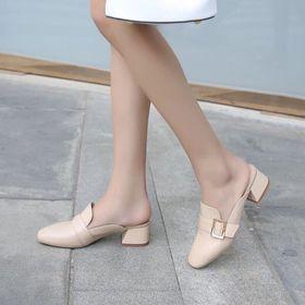 giày dục gót vuông chất da đẹp giá sỉ