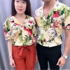 Áo cặp áo form rộng đi biển giá sỉ