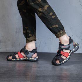sandal 27 đen đỏ giá sỉ