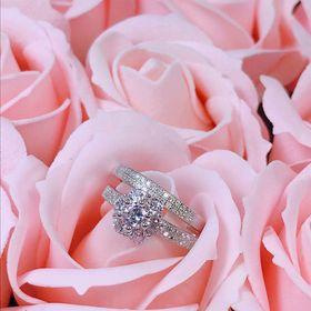 nhẫn đôi bạc phủ vàng trắng giá sỉ