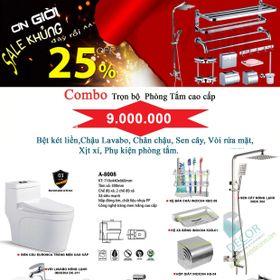 COMBO PHỤ KIỆN PHÒNG TẮM INOX304 giá sỉ