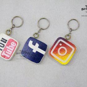 Móc khóa Handmade Logo Mạng xã hội giá sỉ