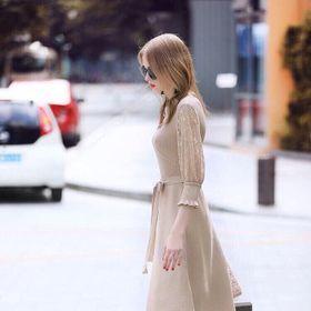 Đầm len tay ren giá sỉ