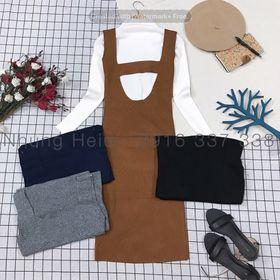 Set đầm len áo len giá sỉ