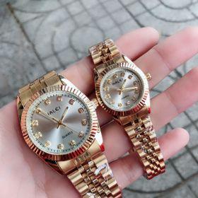 Đồng hồ đôi dây kim loại HALEI giá sỉ