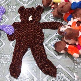 vỏ gấu teddy 100cm kèm áo thun đủ màu lông xoắn hoa hồng giá sỉ