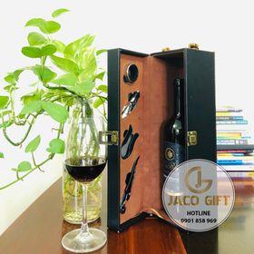 Hộp rượu da đựng vang đầy đủ phụ kiện kèm hộp giá sỉ