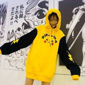 áo nữ pikachu màu vàng hodie giá sỉ