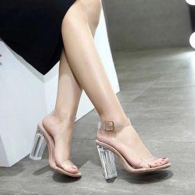 Sandal gót trong hàng đẹp giá sỉ