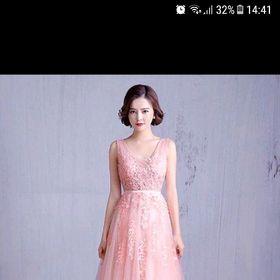 Đầm dạ hội hồng giá sỉ