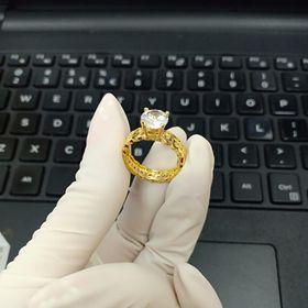 nhẫn kim tiền đính đá giá sỉ