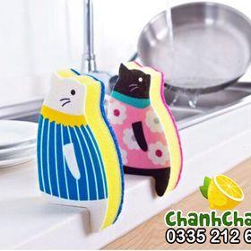Giẻ rửa bát hình chú mèo giá sỉ