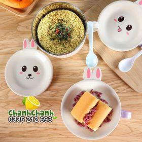Bát úp mỳ tôm inox / Bát úp mì lõi inox có nắp đậy hình thú giá sỉ