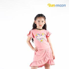 Bộ áo và chân váy bèo bé gái Ninh Khương - Sun Moon giá sỉ