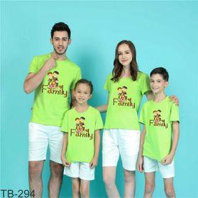 áo thun gia đình năng động ngày hè 3 giá sỉ