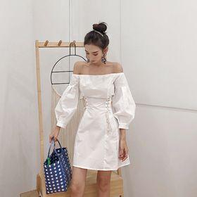 Đầm WHITE OFF-SHOULDER giá sỉ