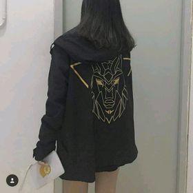 áo khoác dù in hình sư tử nam nữ giá sỉ