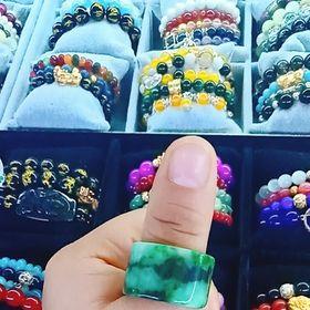 nhẫn đá ngọc cẩm thạch vip giá sỉ