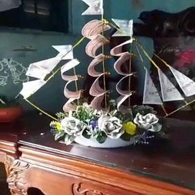 thuyền hoa bằng tiền giấy giá sỉ